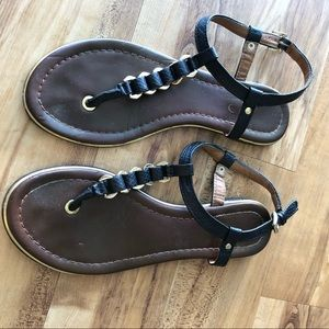 Aldo black and gold sandal